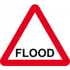 600mm tri. Dibond 'FLOOD' Road Sign (without channel)