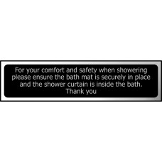 For your comfort and safety when showering ... - CHR (200 x 50mm)