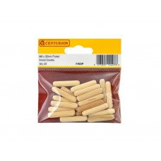 M6 x 30mm Fluted Wooden Dowels  (Pack of 20)