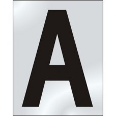 75mm Pol. Chrome Effect - Character 'A'