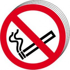 No smoking symbols Double sided - D/S SAV (Pack of 24) (85mm dia.)