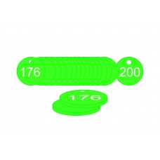 33mm dia. Traffolite Tags - Green (176 to 200)