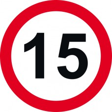 450mm dia. Dibond 15mph Road Sign (without channel)
