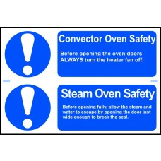 Convector oven safety / Steam oven safety - PVC (300 x 200mm)