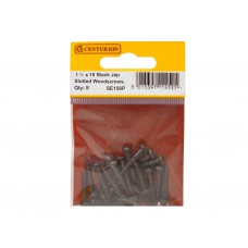 "1 1/2"" x 10 BJP Slotted Round Head Woodscrews (Pack of 8)"