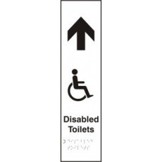 Disabled toilets (with graphic) arrow up - Taktyle (75 x 300mm)