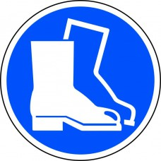 400mm dia. Safety Boots Symbol Floor Graphic
