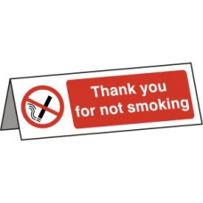Thank You For Not Smoking Desk Sign - RPVC (150 x 50mm)