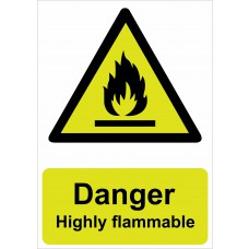 Danger Highly flammable - RPVC (148 x 210mm)