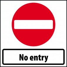 600 x 600mm Temporary Sign - No Entry