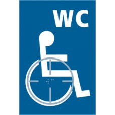 Disabled WC graphic - Taktyle (150 x 225mm)