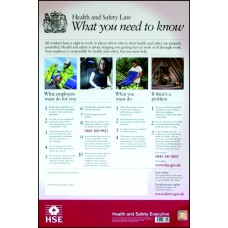 Health & Safety Law Poster - LAM (297 x 420mm)