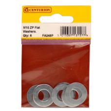 M10 ZP Flat Washers  (Pack of 6)