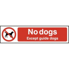 No dogs except guide dogs - PVC (200 x 50mm)
