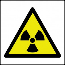 Radiation symbol - Labels (50 x 50mm Roll of 250)