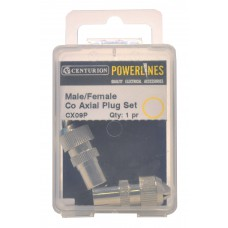 Male/Female Co Axial Plug Set