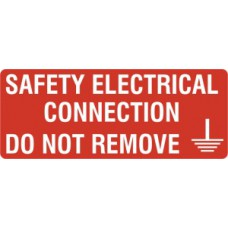 Safety electrical connection  - SAV (96 x 38mm, sheet of 15 labels)