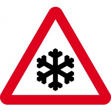 750mm tri. Temporary Sign - Risk of Ice