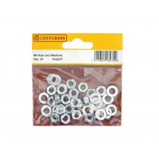 M6 ZP Nuts & Washers  (Pack of 20)
