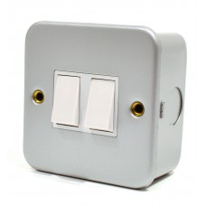 6 Amp Metal Clad Double Switch