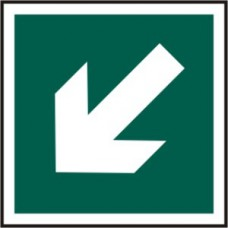 Diagonal arrow symbol - PVC (150 x 150mm)