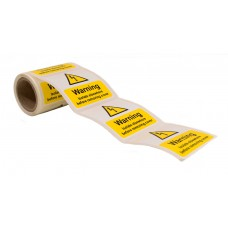 Warning Isolate Elsewhere - 100 Roll SAV (75 x 75mm)