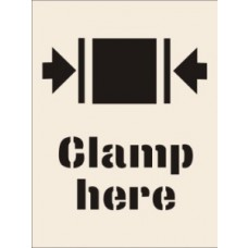 Clamp Here Stencil (400 x 600mm)