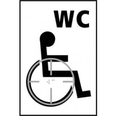 Disabcled WC graphic - Taktyle (150 x 225mm)