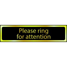 Please ring bell for attention - POL (200 x 50mm)
