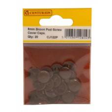 Brown Pozi Screw Cover Caps (Pack of 20)