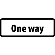 Supplementary Plate 'One way' - ZIN (860 x 360mm)