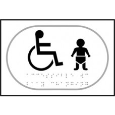 Disabled baby change graphic - Taktyle (225 x 150mm)