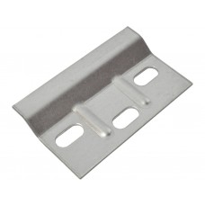 68.5 x 38mm BZP Ribbed Wall Plate