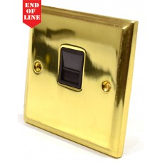 Victorian Brass Master Telephone Socket