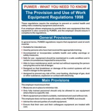 Safety Poster: PUWER - RPVC (400 x 600mm)