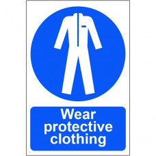 Wear protective clothing - PVC (200 x 300mm)