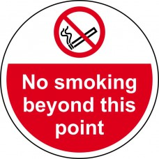 400mm dia. No smoking beyond this point Floor Graphic