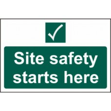 Site safety starts here - PVC (600 x 400mm)