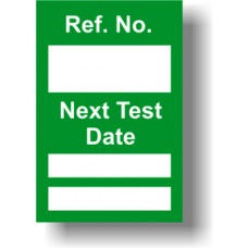 Next Test Mini Tag Insert - Green (Pack of 20)