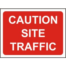 600 x 450mm Temporary Sign & Frame - Caution Site traffic