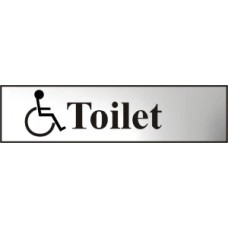 Toilet (with disabled symbol) - CHR (200 x 50mm)