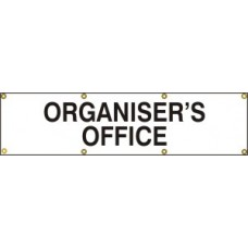Organisers office - (with seperate arrow) BAN (1200 x 300mm)