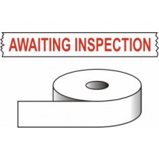 Awaiting inspection - printed tape (50mm x 66m)