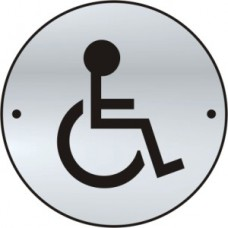 Disabled graphic door disc - SAA (75mm dia.)