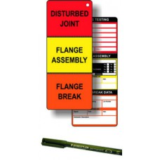 Flange Tag Kit (50 inserts, 1 pen)
