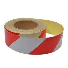 Red/white Reflective tape 50mm x 25mtrs