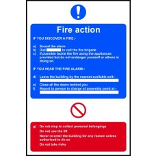 Fire action procedure - RPVC (400 x 600mm)