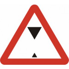 600mm tri. Dibond 'Height Restriction...' Road Sign (with channel)
