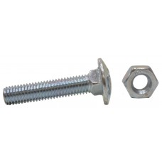 M10 x 50mm Carriage Bolts 4pk