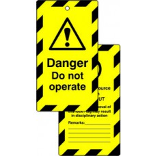 Lockout tags - Danger Do not operate (Double sided 10 pack)